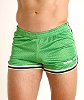 Cell Block 13 Crossover Mesh Reversible Short Green/Black, view 3