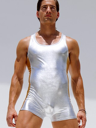 Complete the look: Rufskin Platinum Metallic Nylon Body Suit Silver/Gold