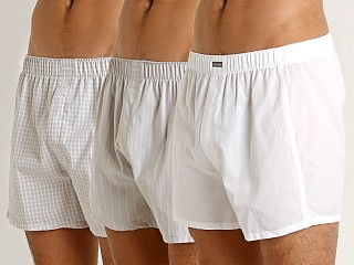Calvin Klein Woven Boxers 3-Pack Pearl