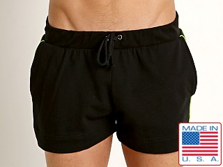 American Jock Iron Bench Press Short Black/Lime