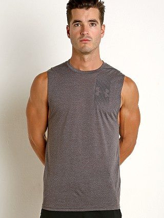 Under Armour Threadborne Graphic Muscle Tee Charcoal