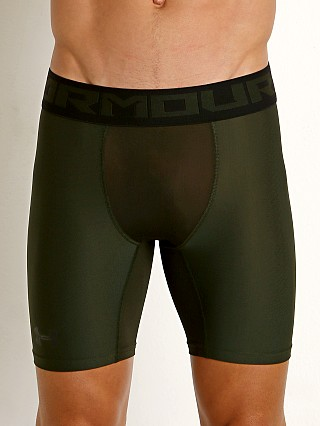 Under Armour 2.0 Mesh Front Compression Short Artillery Green