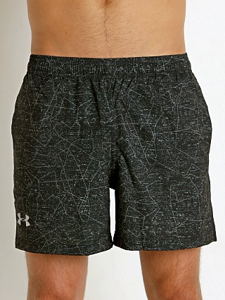 "Under Armour 5"" Printed Launch Short Black/Green"