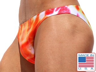 Rufskin Zappa Summer of Love Swim Brief Tie Dye Oranges