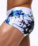 Rufskin Spatter Sublimated Swim Trunk Print, view 3