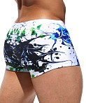 Rufskin Spatter Sublimated Swim Trunk Print, view 4