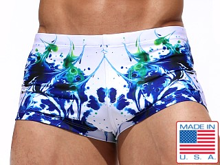 Rufskin Spatter Sublimated Swim Trunk Print
