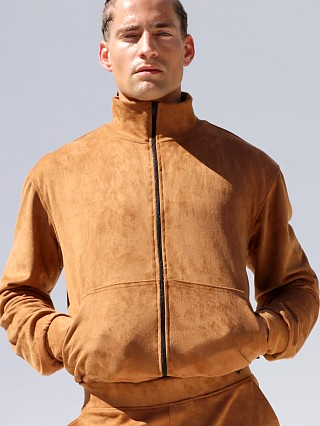 Rufskin Bronx Ultra-Suede Track Jacket Tobacco Brown