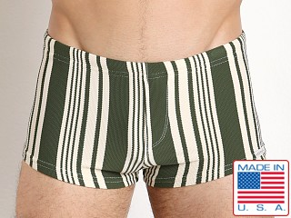 Sauvage Tuscan Stripe Squarecut Trunk Olive