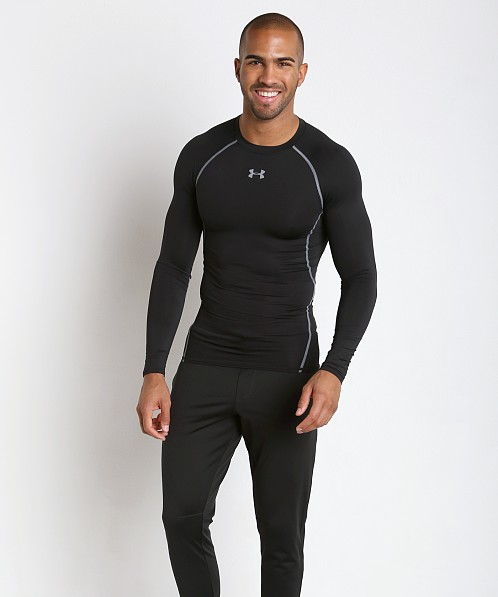 Under Armour Heatgear Longsleeve Compression Tee Black