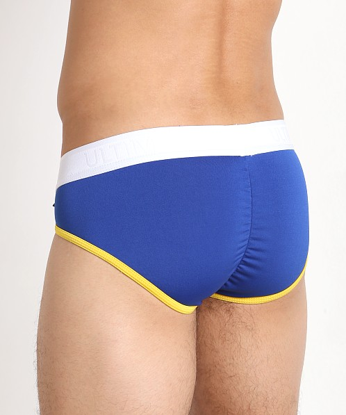 Tulio Ultimate Lace-up Power Pouch Brief Royal/White/Yellow
