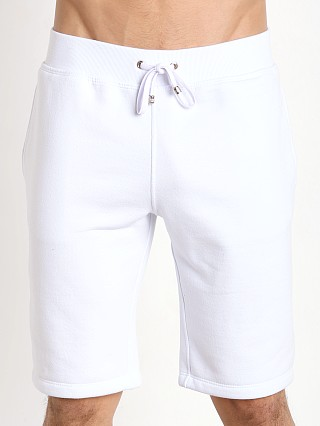 Tulio Pocketed Fleece Knee Length Shorts White