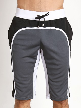 Tulio Knee Length Athletic Panel Workout Pants Grey/Black/White