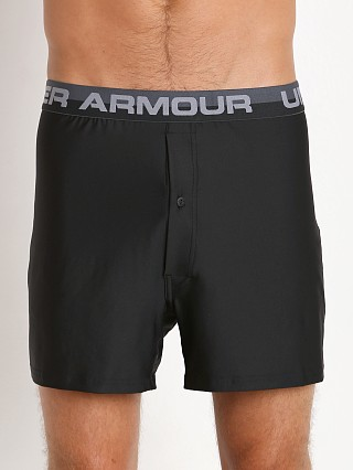 "Under Armour ""O"" Series Button Fly Boxer Short Black/Steel"