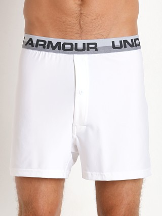 "Under Armour ""O"" Series Button Fly Boxer Short White"