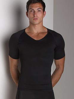 SPANX Zoned Performance V-Neck Shirt Black